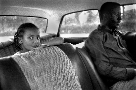 [Aida Muluneh: Girl in Car]